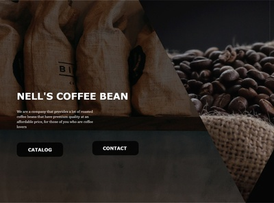 Nell's Coffee Bean minimal web ux ui coffeeshop coffe bean coffee