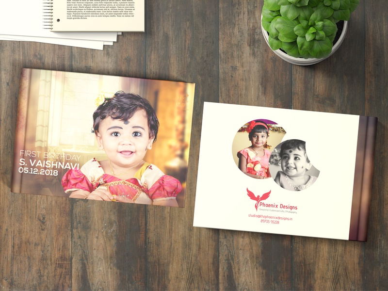 Birthday Album love photography mock-up design india graphic design