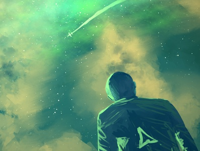 RADIOACTIVE FULL star nightsky post-apocalyptic apocalyptic silhouette stormy green magical storm conceptual environmental design environment enviroment concepts concept design concept art concept clouds cloudy cloud