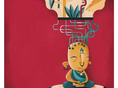 THE MIND CREATES REALITY buddhism illustration graphicdesign digitalart design creative