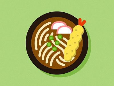 Udon bowl soup noodles restaurant food icon