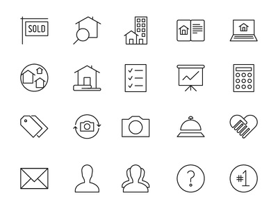 Custom Real Estate Line Icons icons