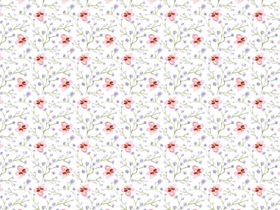 Watercolor pattern: Small flowers hand drawn watercolor surface pattern design surface pattern pattern designer pattern design pattern illustration