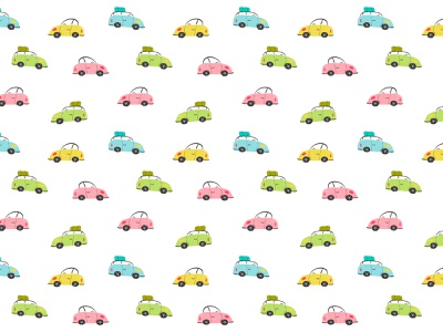 Colorful cars on white kids illustration digital illustration surface pattern surface pattern design pattern designer kids childrens illustration procreate illustration pattern design pattern