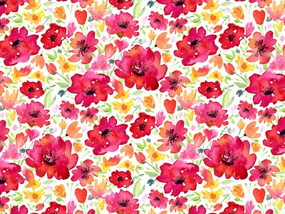 Wildflowers on white fabrics textile pattern surface pattern pattern designer pattern design pattern poppies watercolor flowers floral pattern