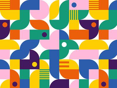 Bauhaus Birds bauhaus vector pattern vector surface pattern pattern designer pattern design pattern