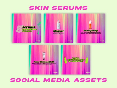 Skin Serums - Social Media Pack template design social media templates social media pack social media design graphic design design branding brand design