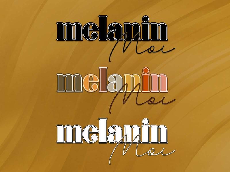 Melanin Moi Logo Redesign logodesign typography personal branding logo design logo design branding brand design