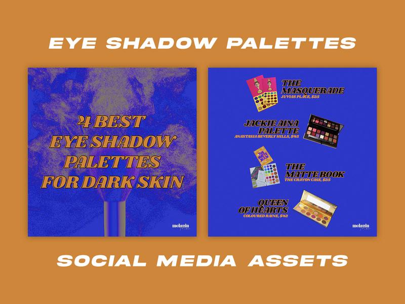 Eyeshadow Palettes for Black Women - Social Media Pack social media templates social media pack social media design graphic design design branding brand design