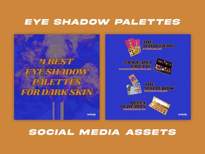 Eyeshadow Palettes for Black Women - Social Media Pack social media templates social media pack social media design graphic design design branding brand design