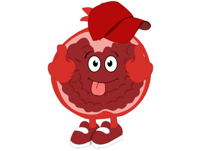 Kawaii Pomegranate illustration illustration