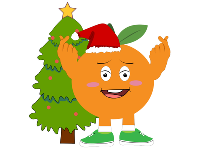 Kawaii Christmas orange illustration illustration