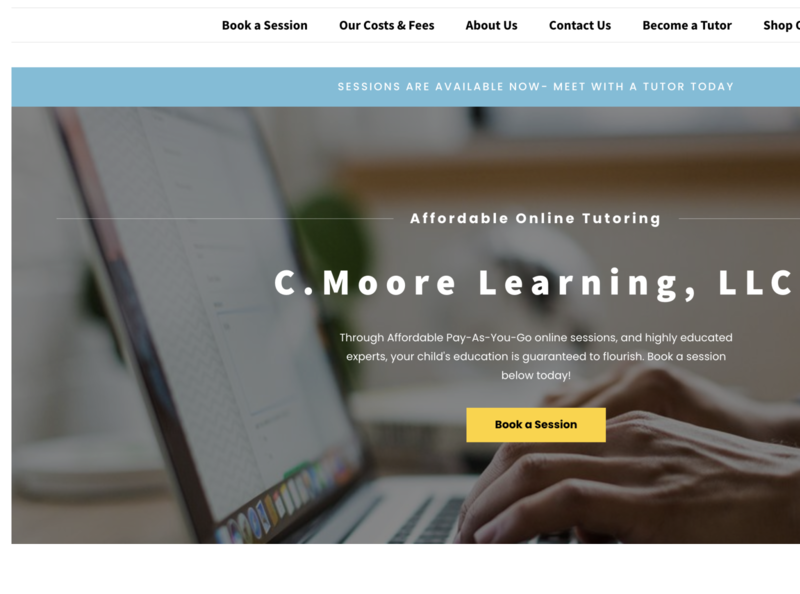 C.Moore Learning LLC-Built by DeCinti Web Design typography ux desktop ui illustration clean cmoorelearning