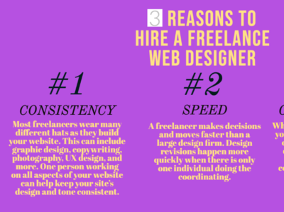 3 REASONS TO HIRE A FREELANCE WEB DESIGNER front-end cmoorelearning clean branding typography creative ui vector desktop illustration