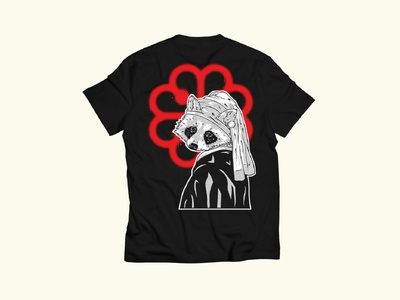 Merch design - Montreal Wildlife t-shirt mockup t-shirt design t-shirt merch ink band shirt procreate illustration design