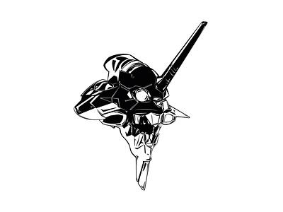 Illustration - EVA-01 Awakened ink procreate illustration design