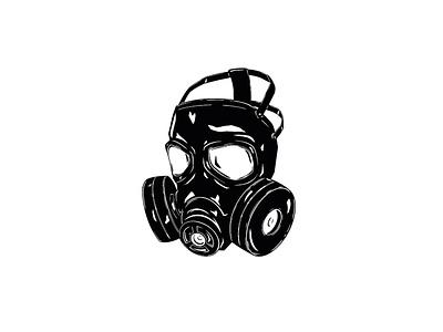 Illustration - Gas Mask gasmask ink procreate illustration design