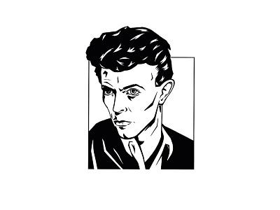 Illustration - Bowie Portrait david bowie bowie portrait ink procreate illustration design
