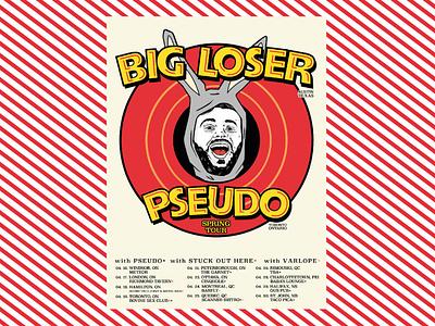 Flyer design - Big Loser/Pseudo gig poster flyer design flyer ink procreate illustration design