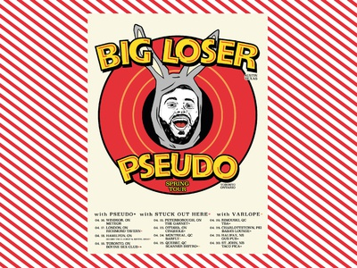 Flyer design - Big Loser/Pseudo gig poster flyer design flyer ink procreate illustration design