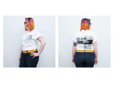 Merch design - All Bark, No Bite t-shirt design t-shirt band shirt merch ink design procreate illustration