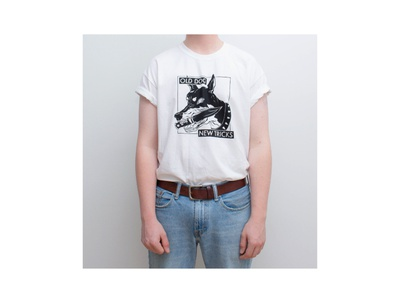 Merch design - Old Dog, New Tricks t-shirt design t-shirt band shirt merch ink design procreate illustration
