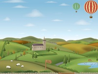 Yorkshire landscape (all vector)