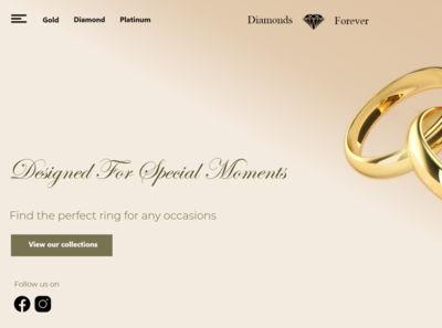 Jewelry Web Design Concept minimal web branding ui design