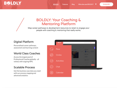 Boldy - Home page marketplace mentoring coaching