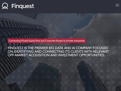 Finquest - Home page marketplace fintech