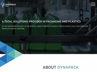 Dynapack - Home page website packaging