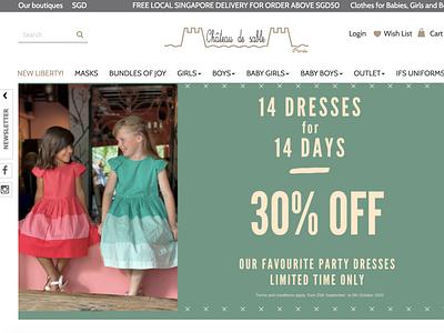 Chateau de Sable - Home page kids clothing website ecommerce