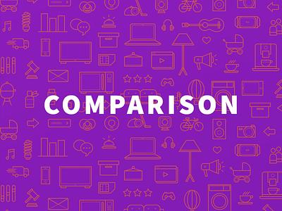 comparison brand icons icons line shopping compare comparison e-commerce