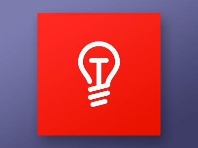 Tech Awards icon / logo design innovation electronics lamp line icon icon design technology tech-awards tech