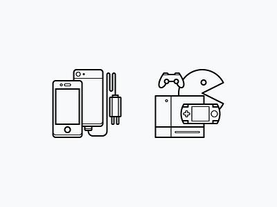 Comparison Categories pixel perfect line illustration icons comparison categories console games electronics