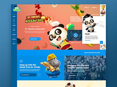 Dr Panda Concept Design colourful colours happy fun characters games kids panda dr