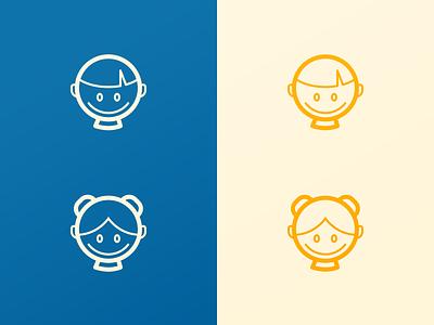 Dr Panda Icon Design kids happy games fun panda dr simplistic line icon