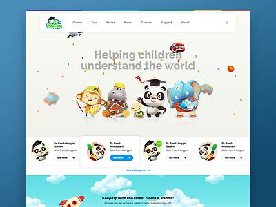 Dr Panda homepage wip dr panda characters ui ux design header