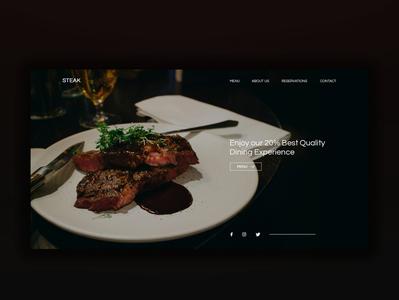 Restaurant Design graphic design landing page design webdesign design