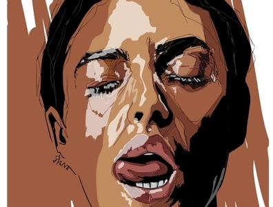 Monica Bellucci illustration erotica illustrations poster vector illustration illustration digital drawingart fashion illustration digital portrait adobe art