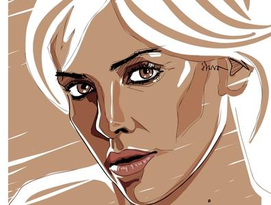 Charlize Theron drawingart vector illustration fashion illustrator illustration erotica illustration digital illustrations fashion illustration digital portrait adobe art