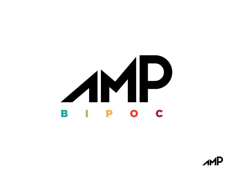 AMP BIPOC blm black lives matter anti racism social justice amplify logo amp