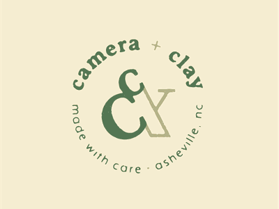Camera & Clay texture stamp logo ampersand pottery photography