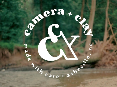 Camera & Clay stamp seal pottery photography logo