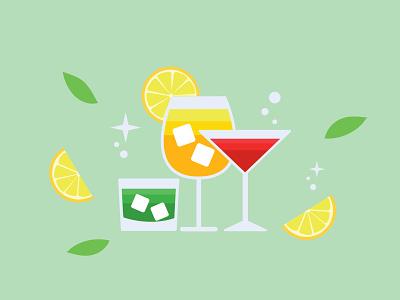 Cocktail illustration clean art illustrator design logo minimal vector illustration flat