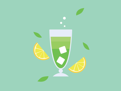 Mojito graphic design icon vector minimal logo illustrator clean art illustration flat