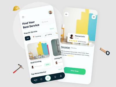 Service Finder App android app design ios app designinspiration trending minimal design uiux interface clean app deisgn find service ui design mobile app design mobile apps app