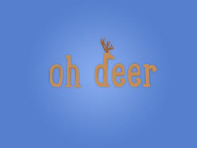 Oh Deer deer wordmark logo