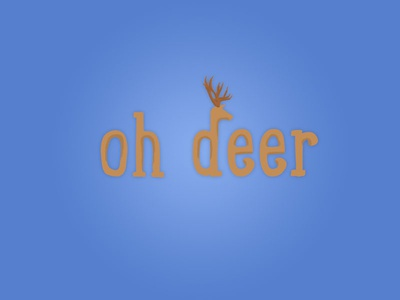 Oh Deer deer wordmark logo