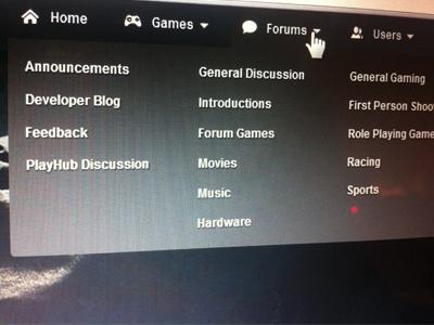 Forums Dropdown Menu ui website menu dropdown forum hover